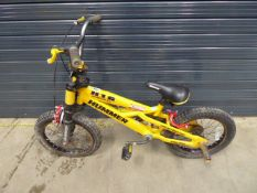 Child's Hummer H16 bike in yellow