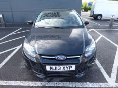 MJ13 XYP (2013) Ford Focus Zetec Turbo, 998cc petrol 5 door hatchback in black MOT: 6/10/21