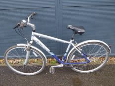 Claud Butler Odyssey mountain bike in silver and blue