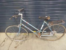 Raleigh bike in blue