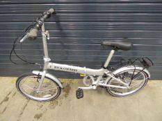 Town and Country folding bike in silver