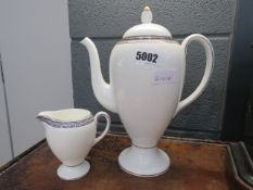 Wedgwood coffee pot and a cream jug