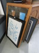 Large quantity of assorted modern framed and glazed pictures to include Birth of Bambi, travel
