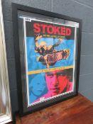 Framed and glazed poster entitled 'Stoked : A Film by Helen Stickler'
