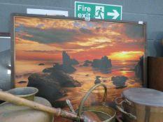 Framed photographic print 'Canvas of a seashore scene'