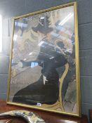 Framed and glazed poster of a Divan Japonais