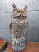 Plastic model of an owl