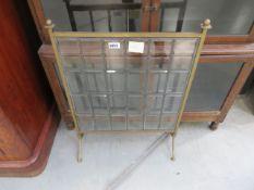 Leaded glass fire screen