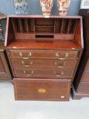 Dark wood bureau