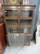 Globe Wernicke style shelfed darkwood cupboard
