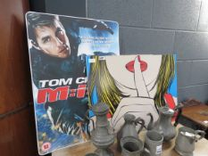 2 pop art posters and a Mission Control film advertising poster