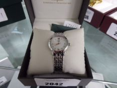 Rotary stainless steel strap wristwatch with box