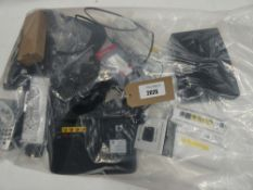 Bag containing mostly routers and remote controls