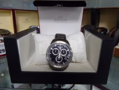 Tissot stainless steel strap wristwatch with box