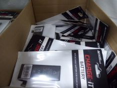 2 boxes containing quantity of iPhone 6, 6S, 7 and other replacement Apple product batteries