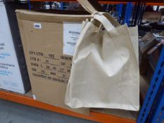 Box of shopping tote bags