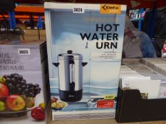 Boxed stainless steel hot water urn