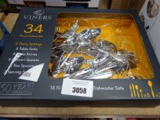 Box containing Viners cutlery