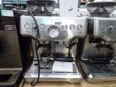 52 Unboxed Sage Barister Express coffee machine with some accessories