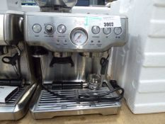 57 Unboxed Sage Barister Express coffee machine with some accessories