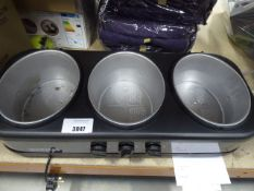 Unboxed Gourmet triple buffet server, missing bowls on top