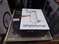 Boxed Simple Humans sensor pump plus a professional series frying pan