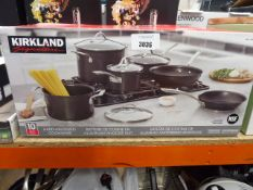 Boxed Kirkland cookware set