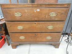 Victorian oak chest of 3 drawers