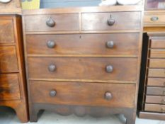 Victorian mahogany chest of 2 over 3 drawers