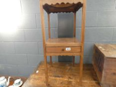 Victorian 2 tier side table with drawer