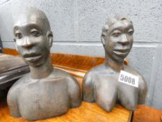 Pair of carved African figures