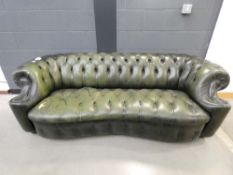 Green leather effect Chesterfield sofa* Collector's Item See Soft Furnishing Policy