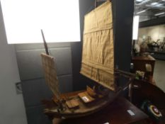Model of a Chinese junk