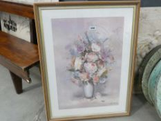 (2) Framed and glazed print of still life of flowers by L. Finzi Armori