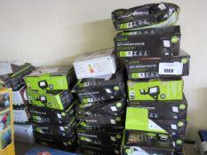 Large quantity of Luceco LED flood lights with PIR sensors