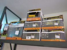 5 Diall rechargeable work lights with 2 Diall torches