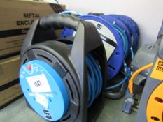 (6) 2 25m cable reels with 12m cable reel