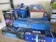 Quantity of various car motor parts incl. brake master cylinder, timing belt kit and ignition leads