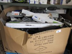 Pallet containing unboxed security lights