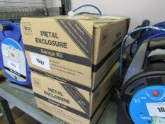 2 boxed metal garage enclosure kits