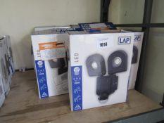 10 LED 2x800 lumen self adjustable security lights