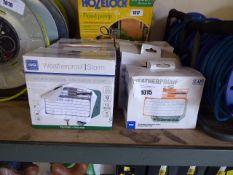 6 boxed BG weatherproof outdoor sockets