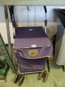4 wheel push along shopping trolley