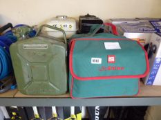 5L green jerry can with Auto Glim car cleaning kit