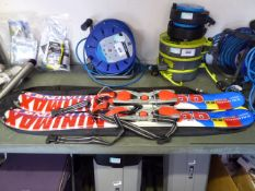 Set of adults Salomon Snowblade 99 skis with case