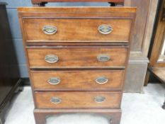 Victorian mahogany 4 drawer cabinet