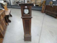 Grand mother clock in oak case (as found)