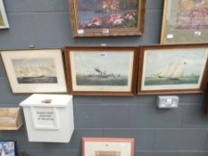 4 Framed and glazed engraving of sailing and steam ships