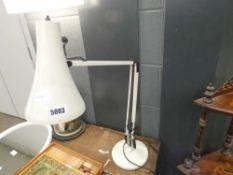 White painted desk lamp