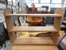Pine 3 tier hanging shelf